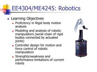 EE4304/ME4245: Robotics