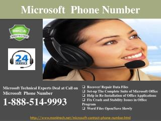 Get All-out Microsoft Phone Number @1-888-514-9993