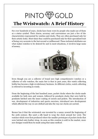 The Wristwatch: A Brief History
