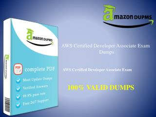 AWS Certified Developer - Associate VCE Dumps-AWS Certified :: Amazondumps.us