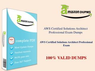 Passing the AWS Certified Solutions Architect Professional exam on Amazondumps.us