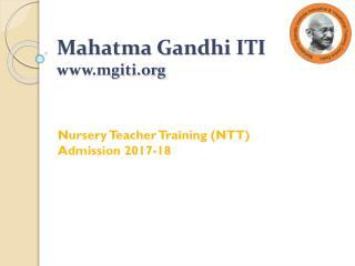 Nursery Teacher Training (NTT) Admission 2017-18