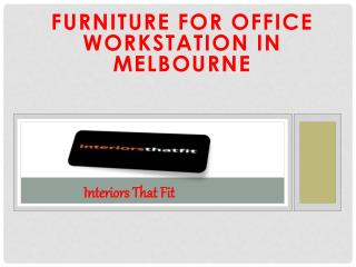 Furniture for Office Workstation in Melbourne