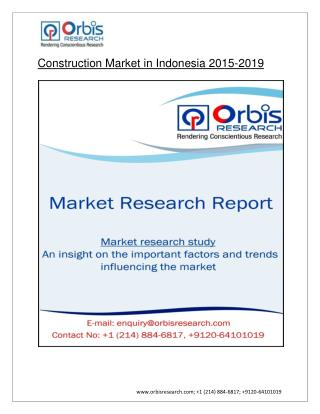 Construction Market in Indonesia by 2019