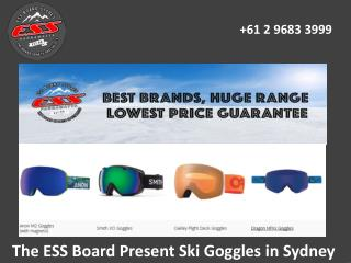 The ESS Board Present Ski Goggles in Sydney