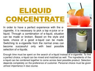 Ejuice concentrate