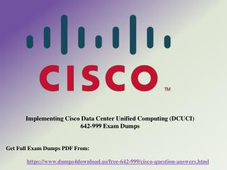 Get Actual Cisco 642-999 Exam Question - Study Material