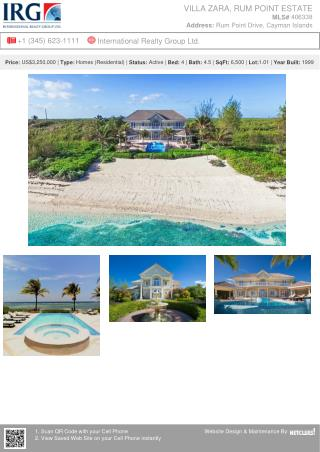 VILLA Zara, Rum Point Estate - Home for sale in the Cayman Islands.