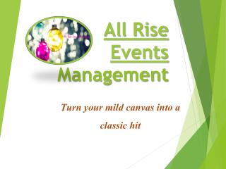 Allriseevents - Event Management Companies in Bangalore