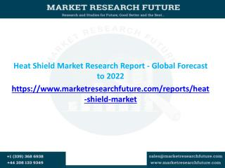 Global Heat shields market is expected to grow at a CAGR of about 5% by 2022