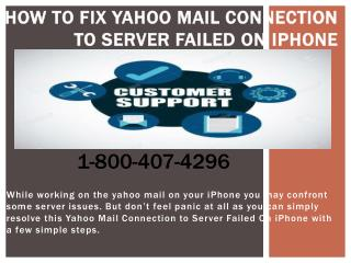 How to Fix Yahoo Mail Connection to Server Failed On iPhone