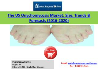 US Onychomycosis Market (Prescription Drugs) Size, 2016 Trends & 2020 Forecasts