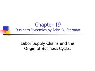 Chapter 19 Business Dynamics by John D. Sterman