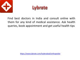 Best Orthopedic Doctors in Hyderabad - Lybrate