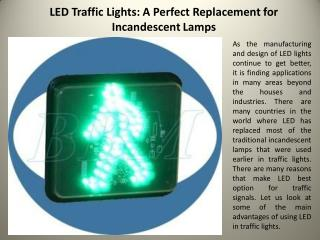 LED Traffic Lights: A Perfect Replacement for Incandescent Lamps