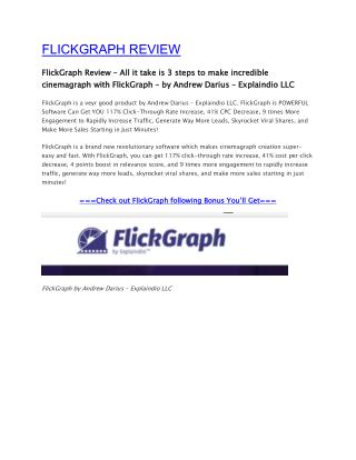 FlickGraph Review And Bonuses