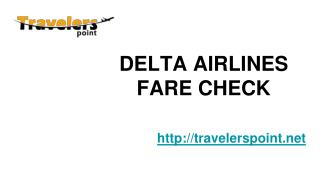 DELTA AIRLINES FARE CHECK
