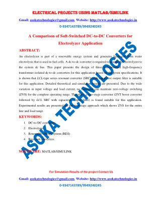 A Comparison of Soft-Switched DC-to-DC Converters for Electrolyzer Application