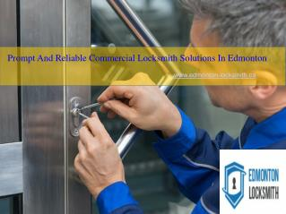 Affordable Commercial Locksmith In Edmonton