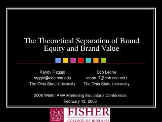 The Theoretical Separation of Brand Equity and Brand Value
