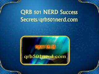 QRB 501 NERD Success Secrets/qrb501nerd.com