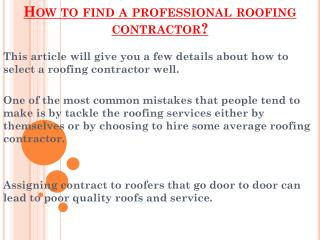 Benefits Of Hiring Professional Roofing Contractor