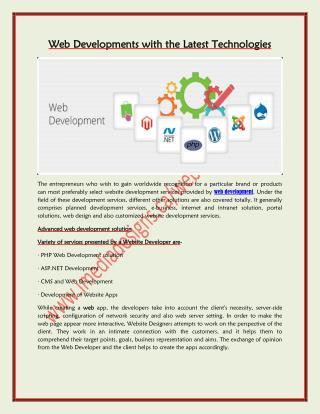 Web Development with the Latest Technologies | iMedia Designs