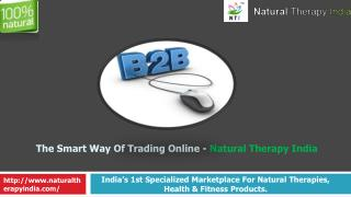 Nautural Products Manufacturers - Natural Therapy India