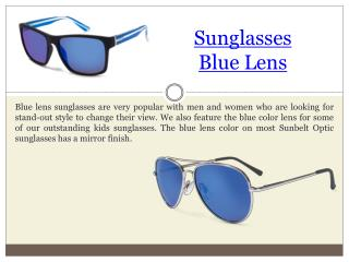 Black Frame Blue Lens Sunglasses