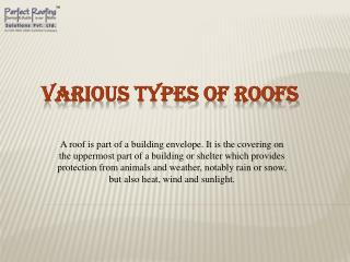 Various Types of Roofs