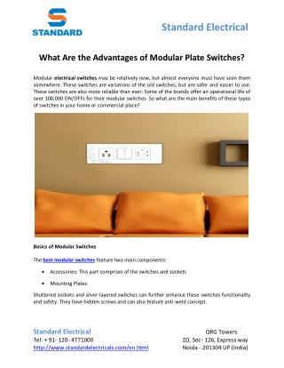 What Are the Advantages of Modular Plate Switches?