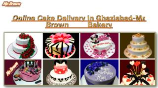 Online Cake Delivery In Noida,Gaziabad-Mr Brown Bakery
