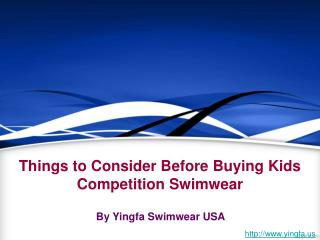 Kids Competition Swimwear