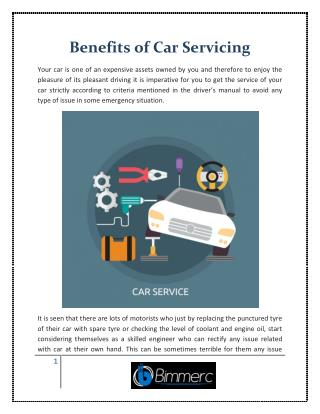 Benefits of Car Servicing