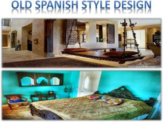 old spanish style design