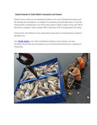 Seafood Business in Global Market Consumption and Demand
