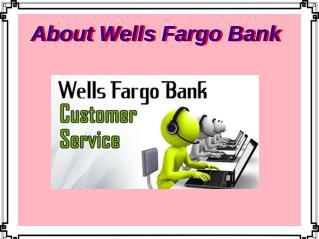 About Wells Fargo Bank