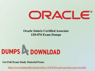 March Latest Oracle 1Z0-876 Exam Dumps Questions