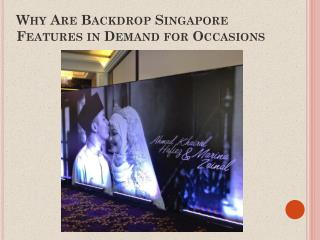 Wedding Backdrop Singapore