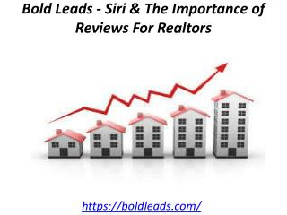 Bold Leads - Siri & The Importance of Reviews For Realtors