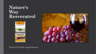 tasmanhealth.co.nz | Nature's Way Resveratrol