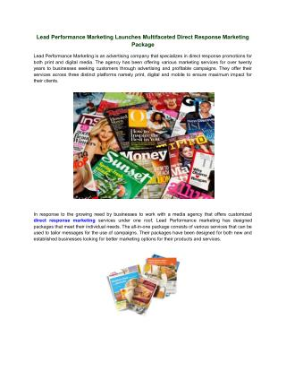 Multifaceted Direct Response Marketing Package