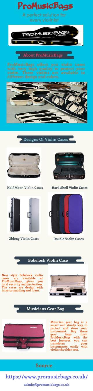 Musician Gear Bags and Bobelock Violin Case From ProMusicBags
