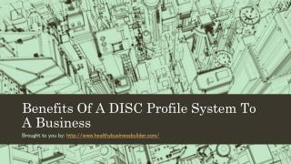 Benefits Of A DISC Profile System To A Business