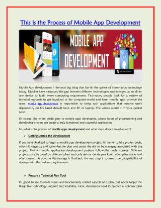 This Is the Process of Mobile App Development | iMedia Designs