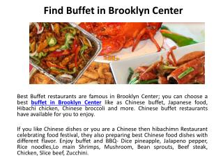Find Buffet in Brooklyn Center