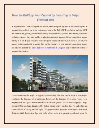 Satya Serviced Apartments in Sector 47 Gurgaon
