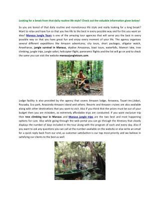 Manaus Jungle Tours