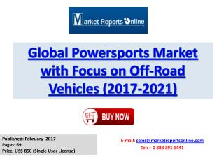 Powersports Market with Focus on Off-Road Vehicles Market Size, Growth Analysis and 2021 Forecasts