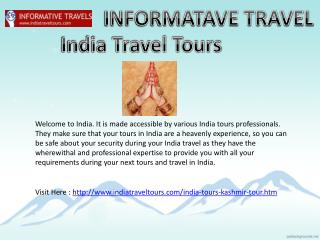 Informative Travels Kashmir Tour